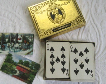 vintage card game . bridge game . vintage bridge game . VT bridge game . gainsborough bridge game . Vermont bridge cards