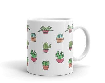 Cactus Mug - Cactus Gift - Cactus Decor - Succulents - Succulent Gift - Succulent Mug - Plant Lady - Plant Mug