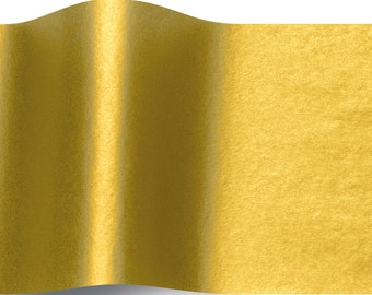 5 sheets of tissue paper gold - gold leaf tissue paper packaging
