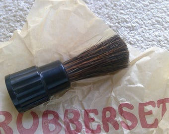 Vintage Shaving Brush, Genuine Rubberset, NOS, Sterilized, Model 1460, Barber Collectible, Advertising Boxes, New Condition