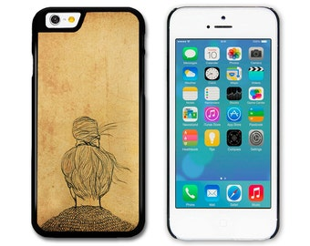 Phone Case, Phone Cover, Girl with a Bun Original Art Illustration iPhone, Samsung, HTC and Sony
