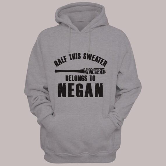 """The Walking Dead """"Half This Sweater  Belongs to Negan""""  Hooded Pullover Sweater S-XL  Hoodie Sweatshirt"""