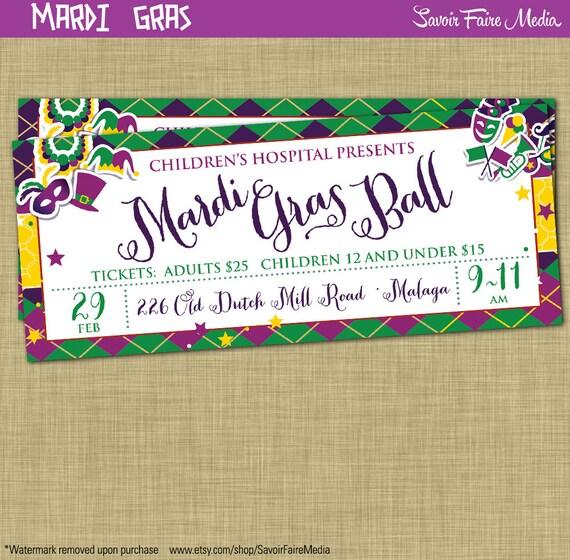 Mardi Gras Ball Ticket Flyer Einladung Postkarte Plakat
