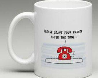 The rotary telephone of God and his prayer answering machine Mug Shirt Print