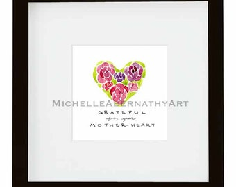Infertility Mother's Day Floral Watercolor Print