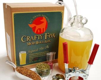 Crafty Fox 1 Gallon Beer Making Starter Kit - IPA