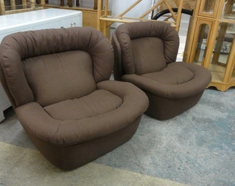 Newly Upholstered Modern Lounge Chairs