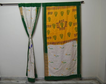 GIFT Indian quilt Hippy curtain Cotton Indian curtain  Boho curtain gypsy curtain partition recycled vintage Bohemian curtain DoorQC55