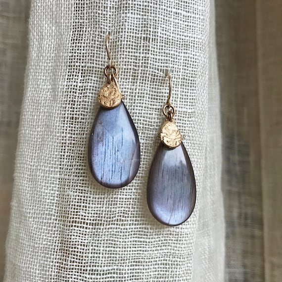 Moon River mocha moonstone Earrings