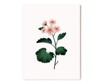 Botanical Scented Card - Geranium