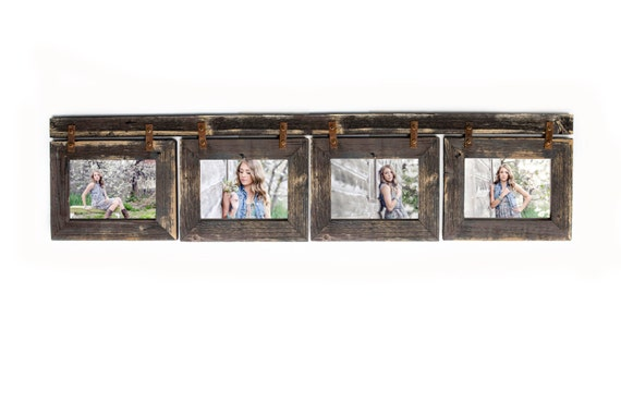 Barnwood Collage Picture Frame. 4 hole 4x6 Multi Opening Frame ...