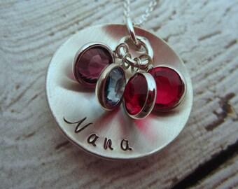 Birthstone Necklace, Nana Necklace, Personalized Necklace, Grandmother Necklace, Grandmother Jewelry, Grandmother's Necklace