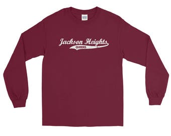 Jackson Heights Queens Retro Queens Vintage NYC Long Sleeve T-Shirt