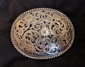 Western Cowboy Filigree Belt Buckle