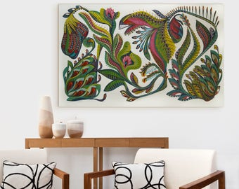 Mid Century Modern Art PRINT Abstract Painting Large Painting Original Expressionist Painting Mid Century Painting Botanical Painting