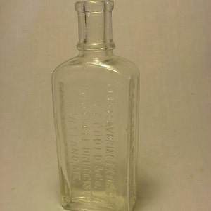 c1890s J. E. Goold & Co. Pure Flavoring Extracts Portland, Maine,  Cork Top Extract Bottle