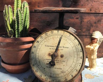 Antique Columbia Family Scale, Rustic Kitchen Decor, Photo Prop, County  Kitchen