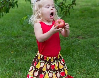 Alexander Henry Apples and pears Skirt (2T, 3T, 4T, 5, 6, 7, 8, 10)