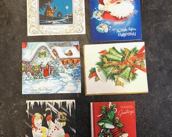 Lot of 6 Vintage Christmas Cards 1940's