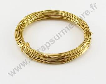 Ø 1 mm aluminum wire - gold - x 10 m