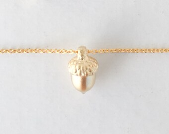 Acorn Necklace, Gold, Fall, Birthday, Gift, Autumn, Thanksgiving, Mom, Sister, Dogeared, Charm, Friendship Necklace, Girlfriend, Dainty,