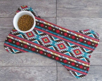 Dog Bone Placemat - Dog Placemat - Southwestern Dog Food Mat - Dog Food Placemat - Pet Placemat