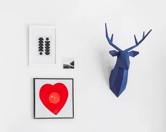 DIY Deer Head Paper Sculpture Kit