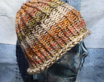 Bulky Variegated Color Beanie #56
