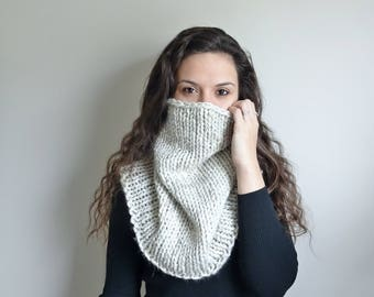 Fitted Knit Cowl • Fitted Infinity Scarf • Chunky Knit Infinity Scarf • Chunky Knit Cowl • The Stonehenge • In Color Wheat