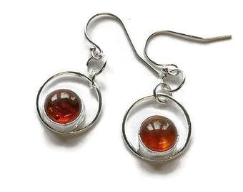 Choice of Stone Set Ring Drop Earrings