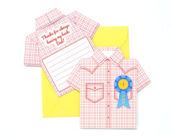 DIY Father's Day Origami Shirt Card Kit - Western Hero Design