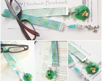 Frog embroidery ribbon bookmark