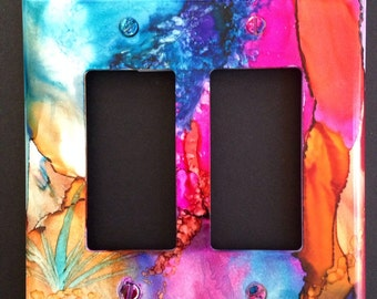 Southwest Canyon Soft Abstract  Switch Plate - Handpainted Wall Decor