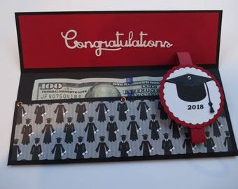 Money Envelope, Cash Or Check Holder, Class Of 2018, Grad Cap, Congratulations Graduate, Money Cards, Grad Gift Envelope, Money Sleeve,