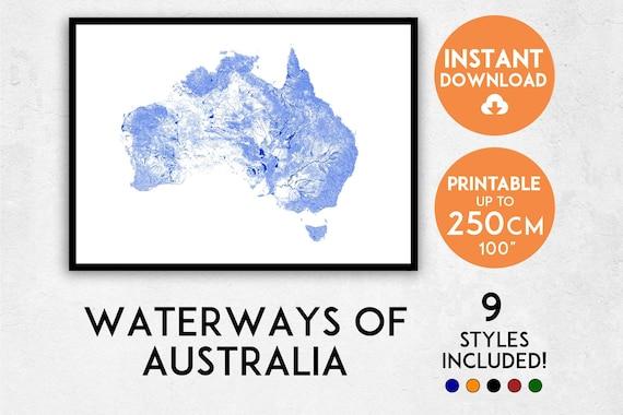 australia map print australia print australia map australia