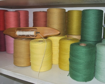 8/4 Cotton rug warp thread, yarn 8 oz tube- 100% cotton - weaving 39 colors available