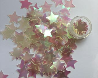Large Iridescent Clear Sequin Stars