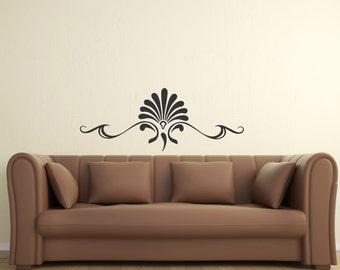 Scroll Embellishment 13 ... Vinyl Wall Decal Sharp Art Deco