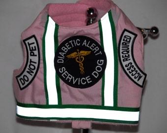 Pink Service Dog Diabetic Alert Dog