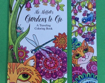 Gardens to Go  (Travel sized Coloring Book w/free bookmark)