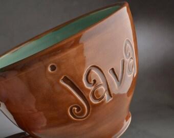 Soup Coffee Mug Ready To Ship Java Coffee Tea Cocoa Mug by Symmetrical Pottery