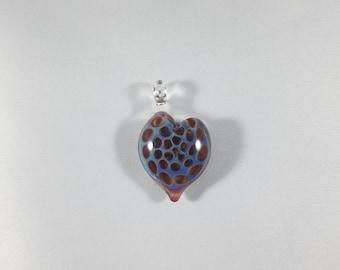 Amber Purple Heart Honeycomb Pendant