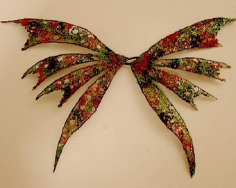 Fairy Wings-Harlequin-OOAK-Sized for Dolls & Bears(These Wings Are Made By Request)