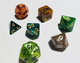 Polyhedral Dice Set - Natural Explorer - DnD Tabletop RPG