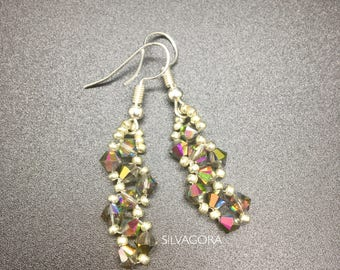 Beautiful earrings with Swarovski elements and 925 silver