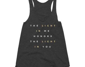 The Light in Me Women's Tri-Blend Racerback Tank
