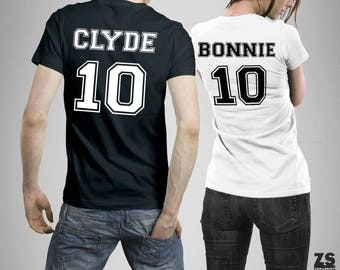 Bonnie and Clyde, couple tshirt, couples gift, anniversary gift, gift for couple, funny couple gift, original gift, birthday gift