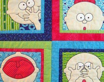 Funny Baby Quilted Wall Hanging by Made Marion