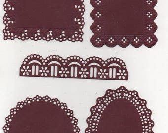197 - Set of 5 cut outs for your cards or scrapbooking