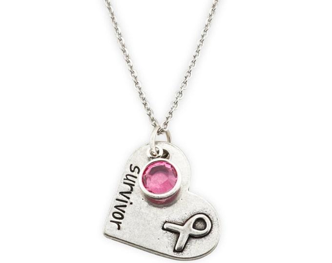 Survivor Necklace - Breast Cancer Survivor Gift - Cancer Survivor Gift - I beat Cancer gift - Gift for Survivor - Chemo Inspiration